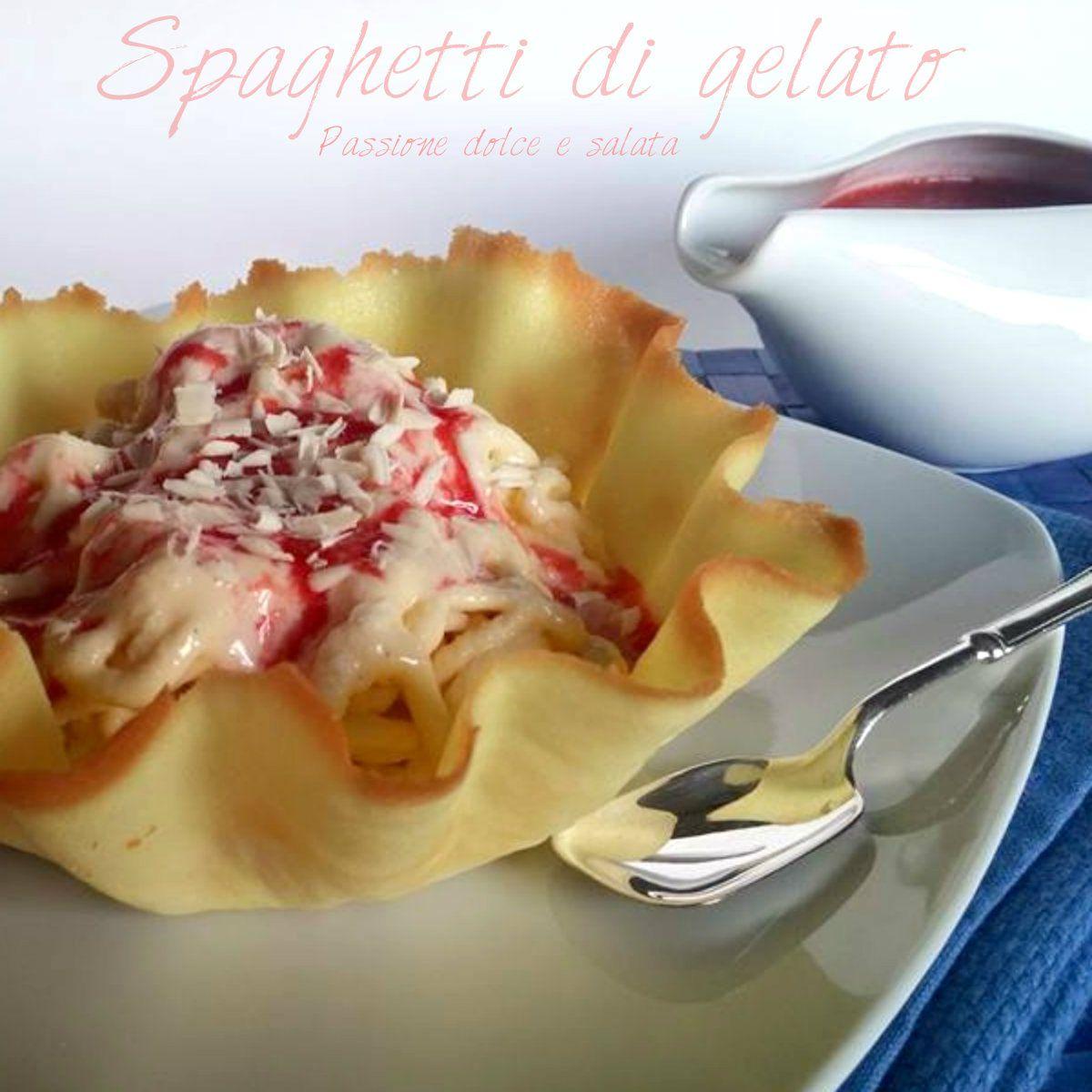 Scommettiamo che questi spaghetti riuscirete a mangiarli anche col cucchiaino?  http://blog.giallozafferano.it/passioneperilcibo/spaghetti-di-gelato/