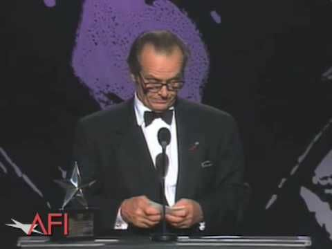 Jack Nicholson the Accepts AFI Life Achievement Award in 1994 - YouTube