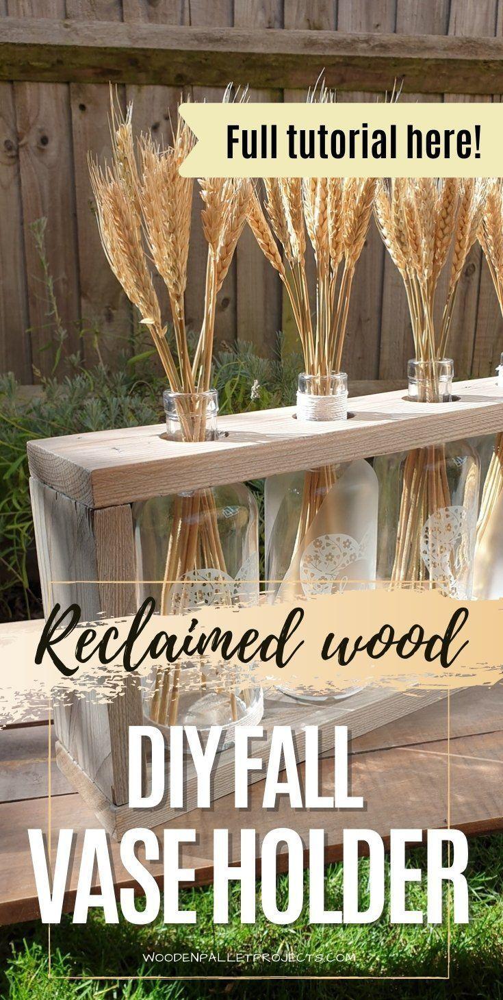 Photo of Reclaimed Wood DIY Wood Vase Holder