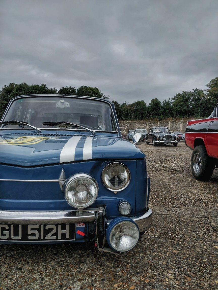 Classic car show at Booklands Museum #classic #cars #old #blue #vintage #stripes