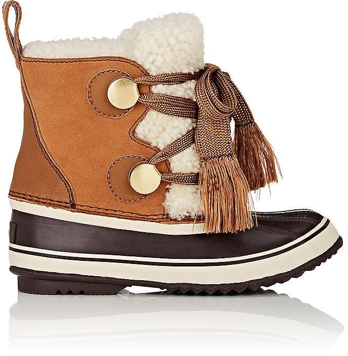 visit Chloé Sherpa-Trimmed Suede & Leather Snow Boots pay with visa cheap price clearance exclusive sale top quality axniZWpTNi