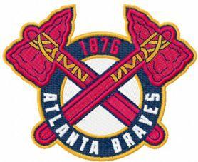 Atlanta Braves Logo 2 Embroidery Design Atlanta Braves Logo Braves Atlanta Braves