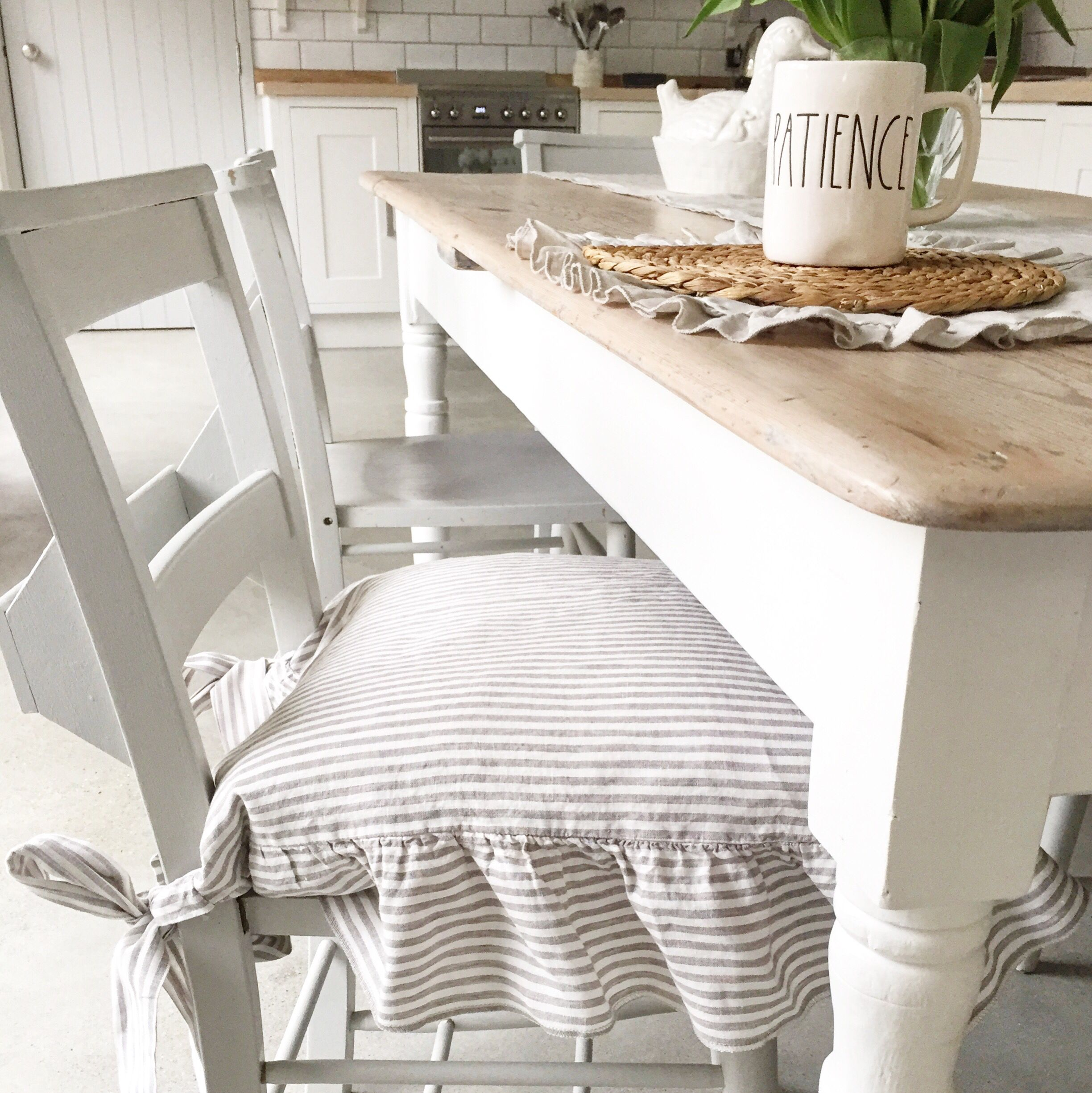 Dining Chair Covers / Linen Chair Cover / Slipcover