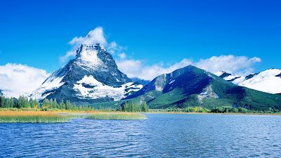 Beautiful Nature Background Wallpapers HD Ice Water Flow Mountains Sky View  Lake Picture | Top HD