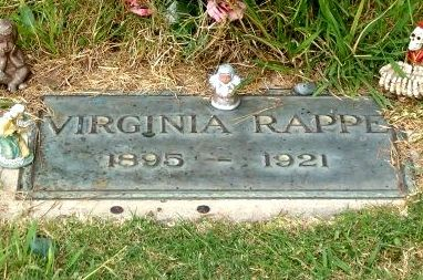 Virginia Rappe's grave | Roscoe arbuckle, Hollywood, Scandal