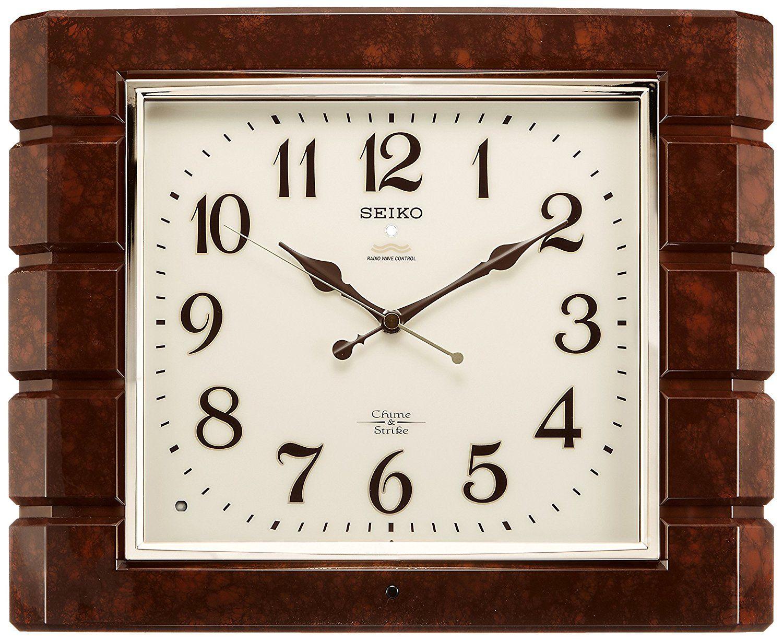 Seiko Clock Seiko Clock Wall Clock Chime And Strike Radio Clock Twin Pas Rx209b Check Out This Great Product This Is An Clock Radio Clock Wall Clock