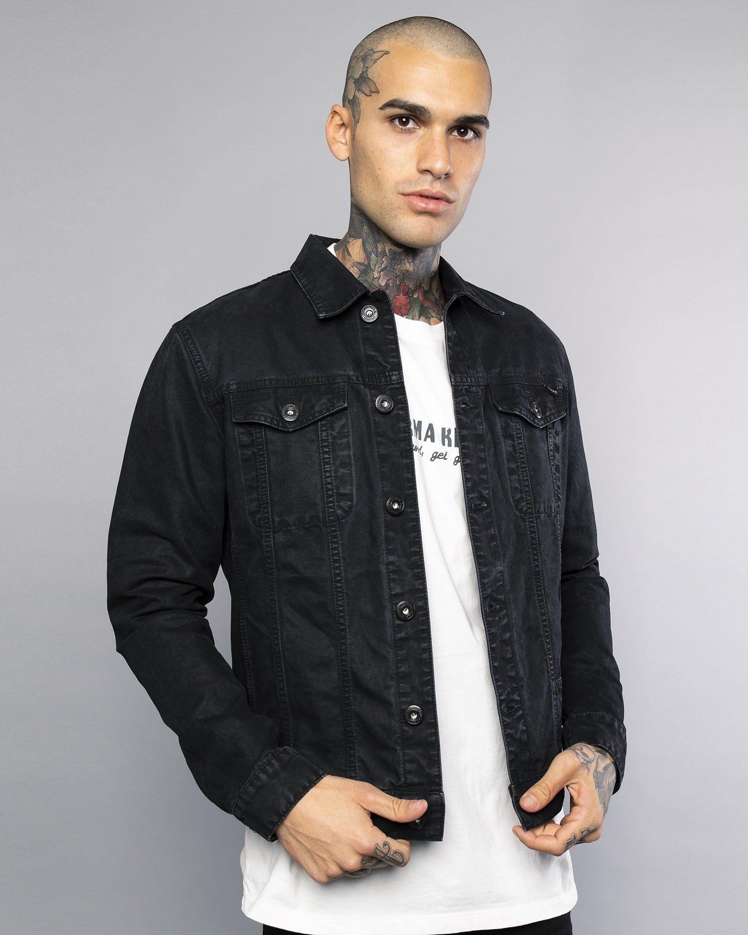 Core Waxed Mens Black Canvas Jacket Canvas jacket
