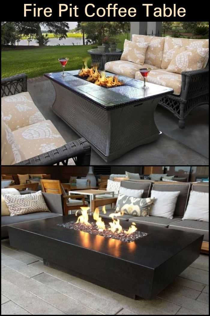 This Diy Fire Pit Coffee Table Combines The Best Of Both Worlds Fire Pit Coffee Table Patio Furniture Fire Outdoor Fire Pit