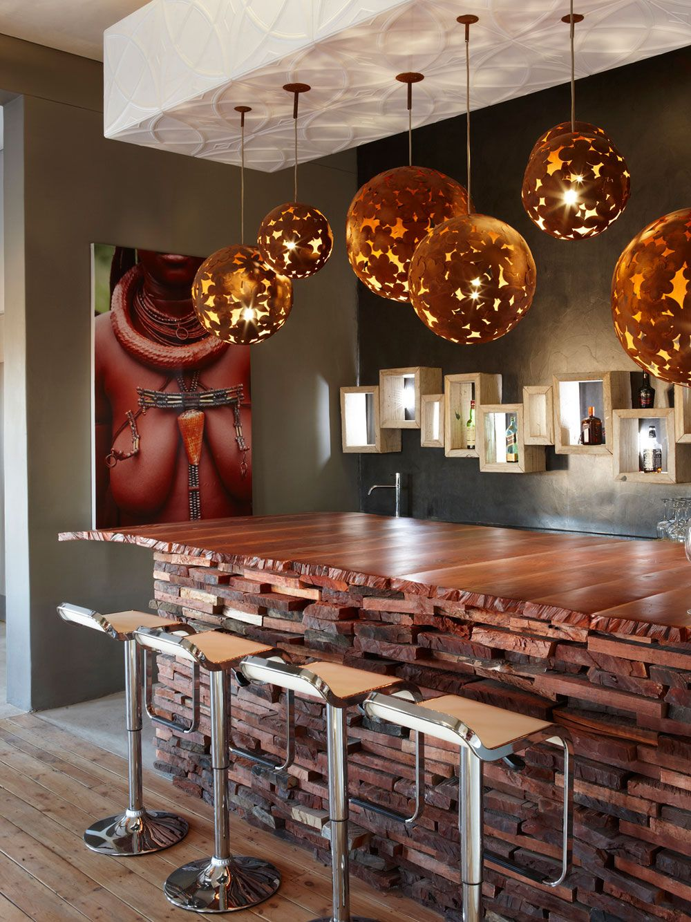 Contemporary capital cool meets african authenticity the for Kitchen designs namibia