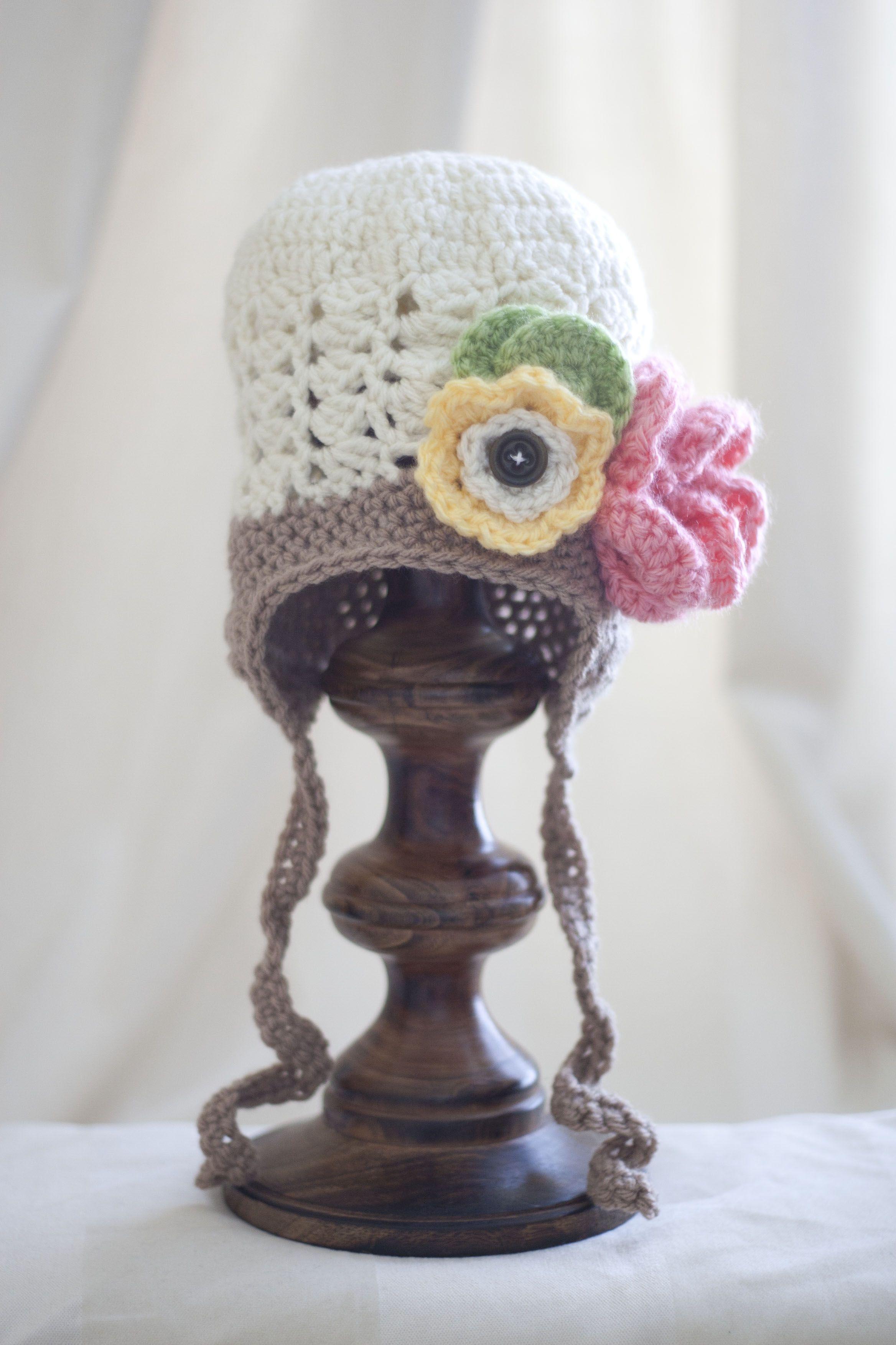 Girls flower hat | Stuff I\'ve made | Pinterest