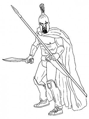 Ancient Greece 15 Ancient Greece Coloring Book Warrior
