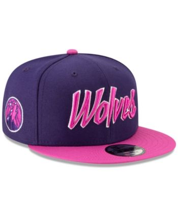 online retailer ddbc0 fcda5 New Era Minnesota Timberwolves City Series 2.0 9FIFTY Snapback Cap - Purple  Adjustable
