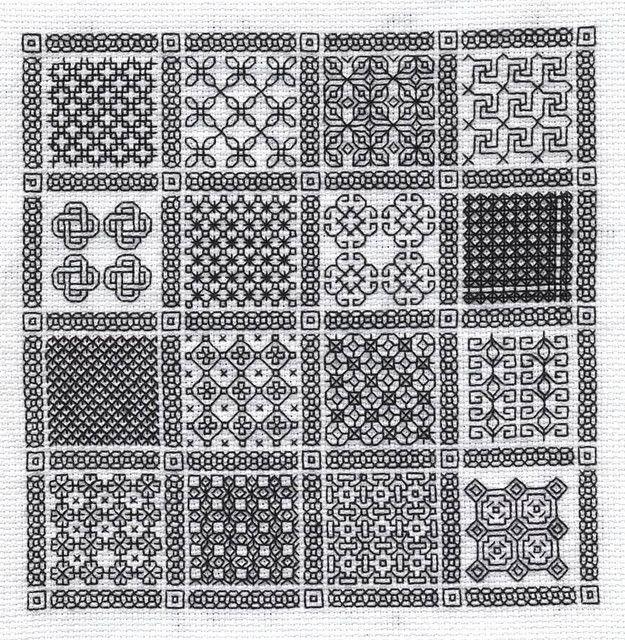 Blackwork Sampler | Bordado, Puntadas y Patrones de bordado