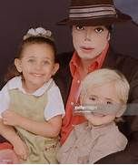 Michael Jackson with children Paris Michael Katherine Jackson ...