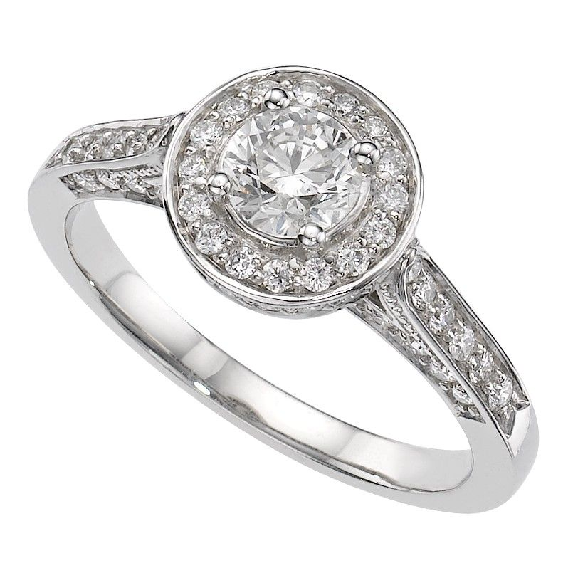 18ct White Gold 105 Carat Diamond Ring