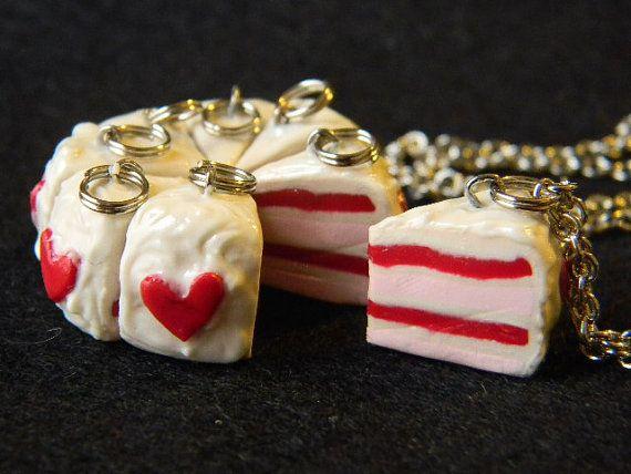 Cute heart cake slice pendant. Sweet!