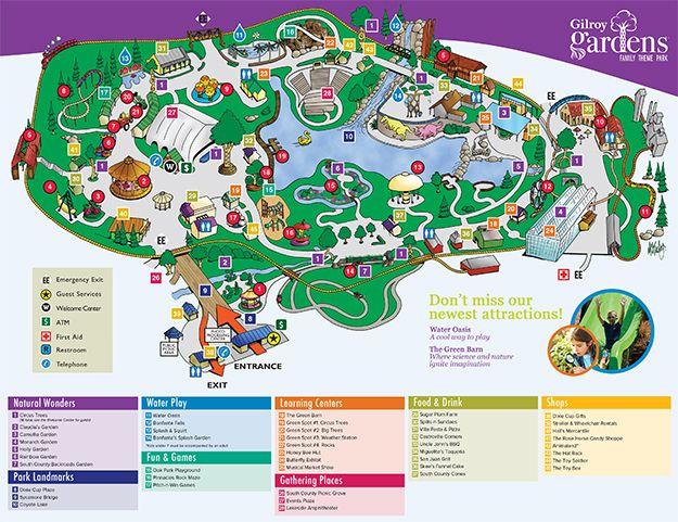 Park Map Gilroy Gardens Theme Park Map Bay Area Kids