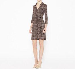 Diane von Furstenberg Brown And Pink Dress | VAUNTE