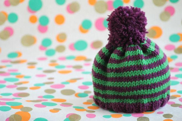 Knit by bit 10 free knitting patterns for beginners baby hats 12 free knitting patterns for beginners striped baby hat on loveknitting dt1010fo