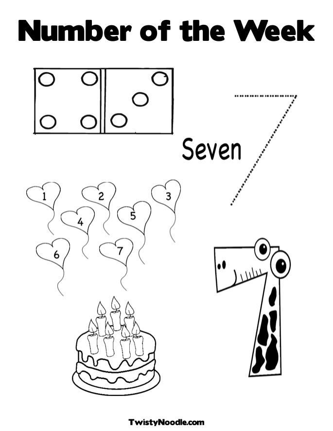 Number Of The Week Coloring Page Twisty Noodle Coloring Pages