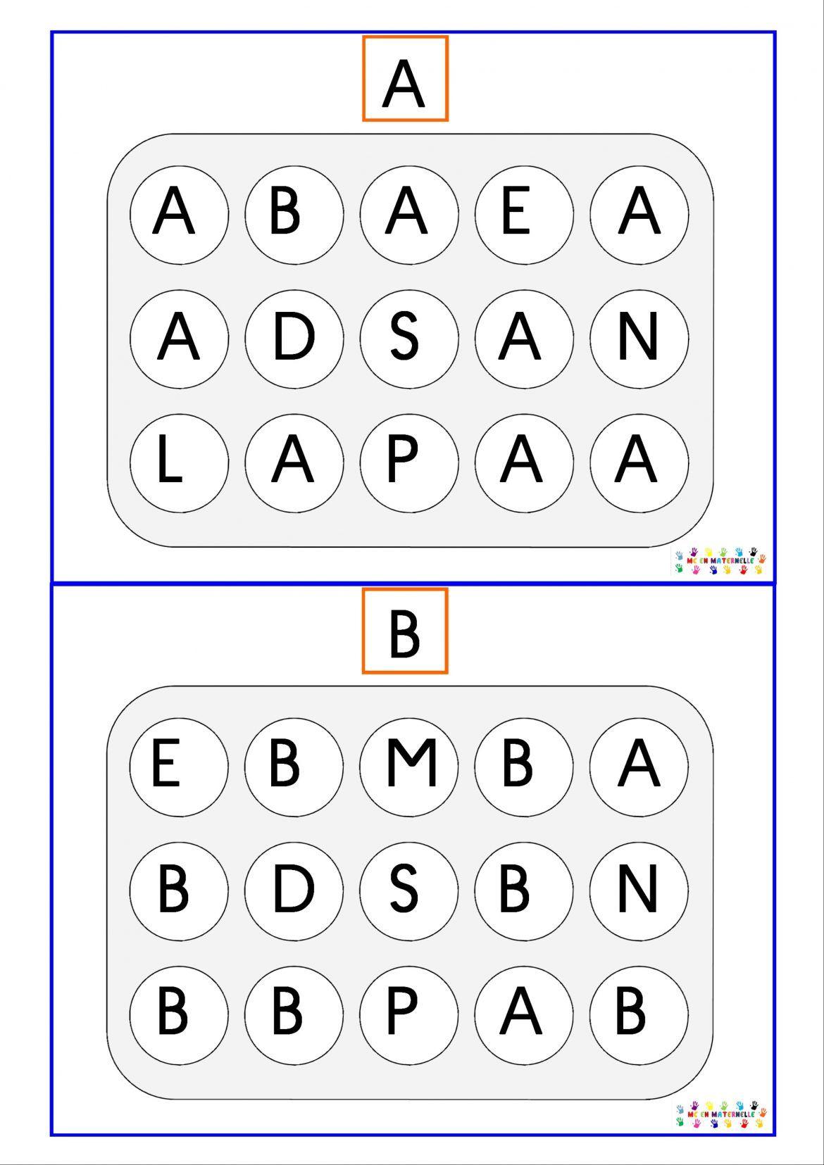 Reconnaissance des lettres majuscules boulot reconnaissance des lettres lettre a et les - Lettres a imprimer ...