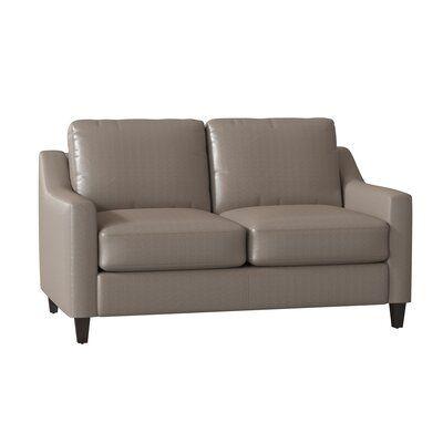 Superb Wayfair Custom Upholstery Jesper Leather Loveseat Body Short Links Chair Design For Home Short Linksinfo