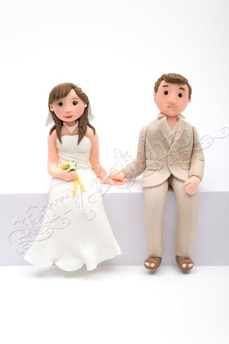Sitting Bride And Groom Bride And Groom Cake Toppers Wedding Cake Toppers Wedding Topper
