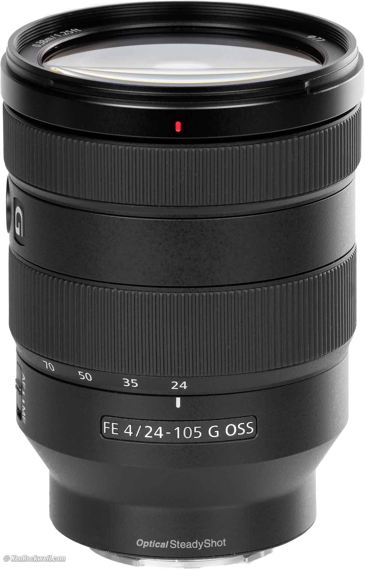Sony Fe 24 105mm F 4 G Oss Zoom Lens Best Camera Lens Aperture