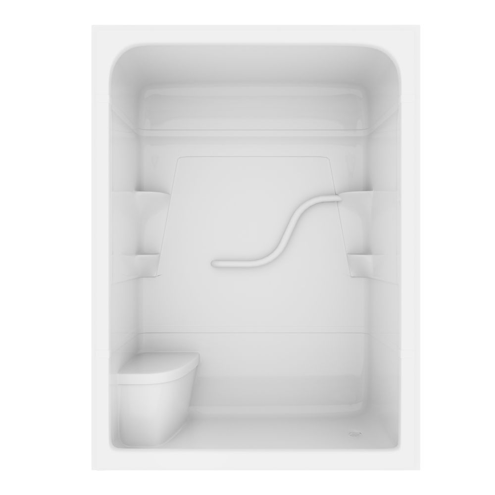 Madison 60-inch 3-Piece Acrylic Shower Stall with Seat | Pinterest ...