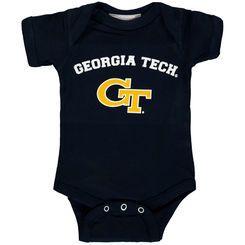 Infant Navy Georgia Tech Yellow Jackets Arch & Logo Bodysuit