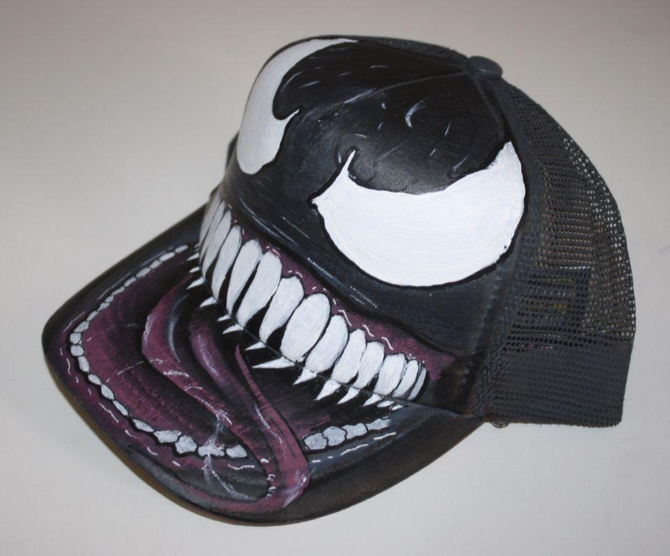 a1c6e5ff253 Gorra personalizada - cap custom - Venom Marvel