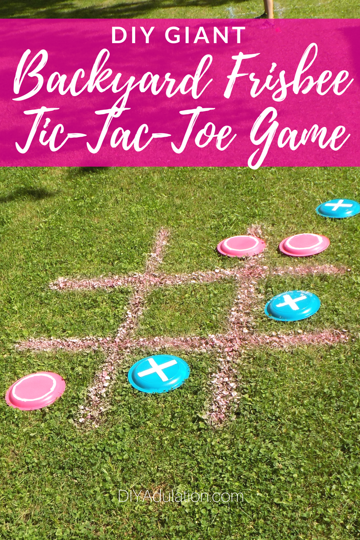 diy giant backyard frisbee tic-tac-toe game | family