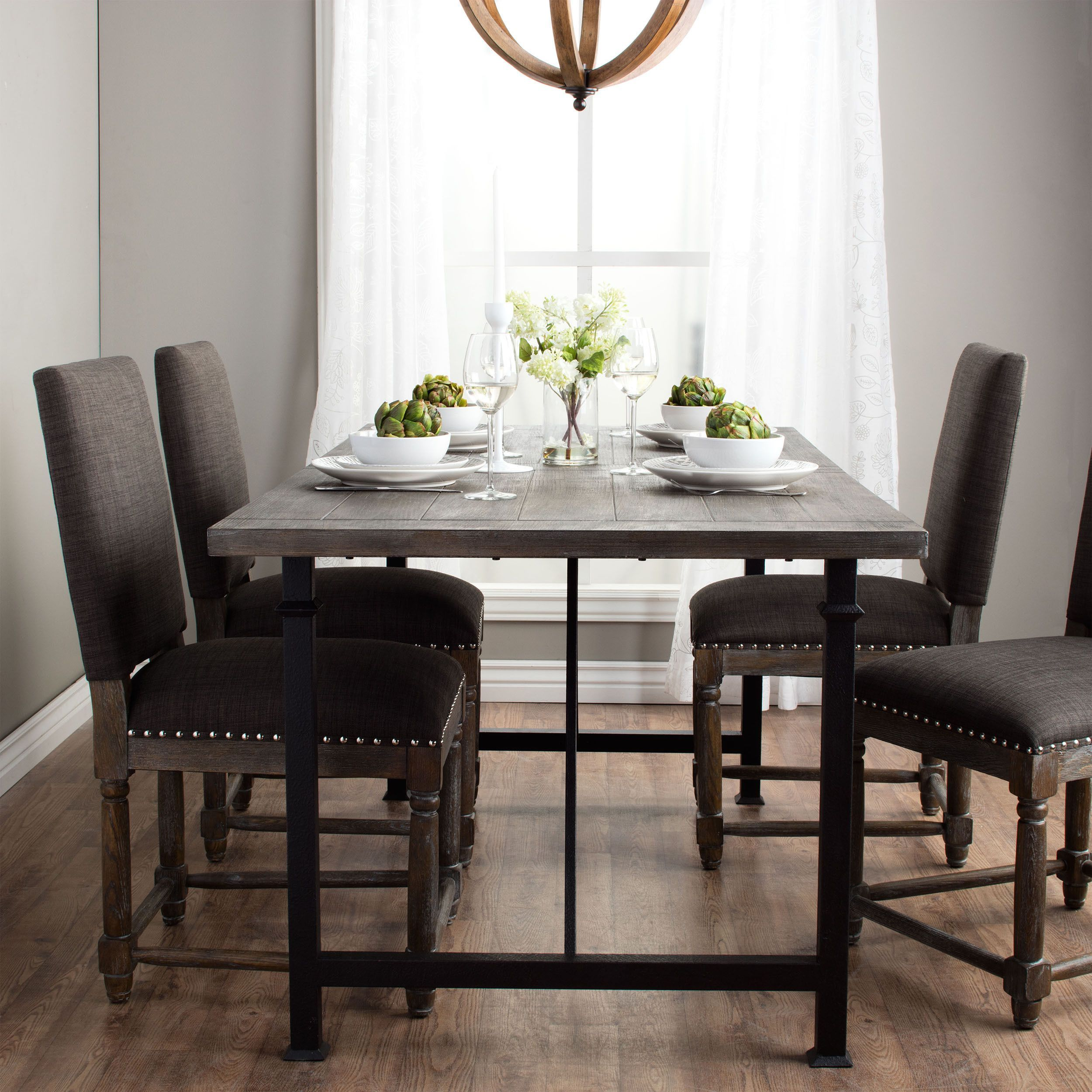 The Alluring Design Of Renate Dining Table Is Defined In Its Rustic Reclaimed Finish
