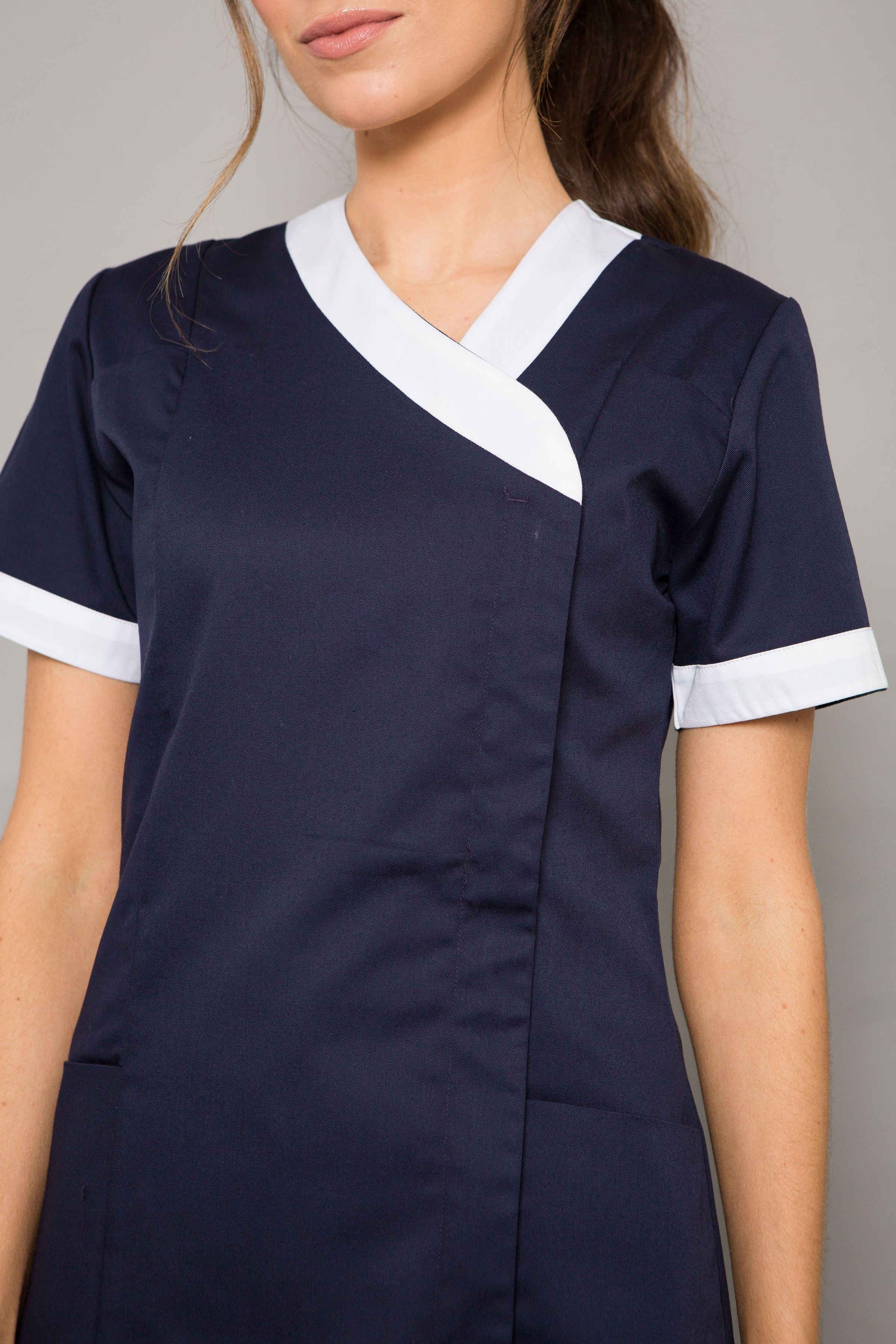 Mercia Asymmetric Modern Healthcare Tunic In 2020 Tunic Designs Beauty Uniforms Tunic