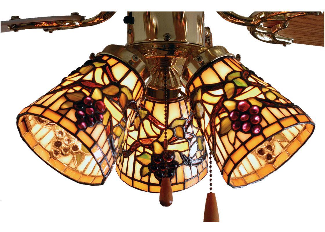 Meyda Tiffany 67013 4 W Jeweled Grape Fan Light Build Com Ceiling Fan Light Kit Fan Light Meyda