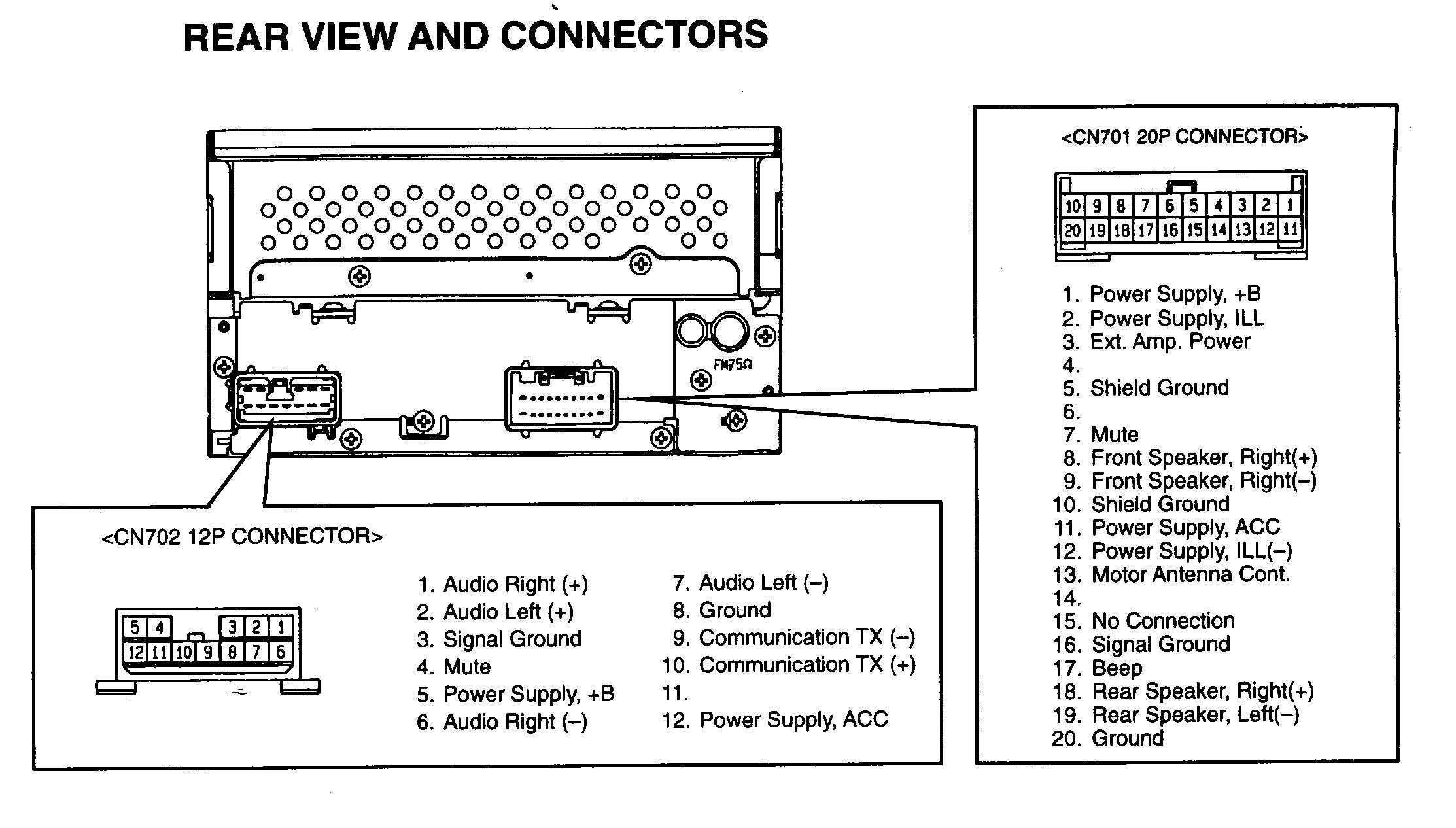 Fujitsu Ten 86120 Pinout New In 2020 Power Ten Connectors