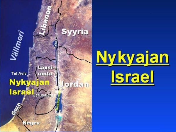 Israelin Kartta Gazan Kaista Lansi Ranta Jerusalem Jerusalem