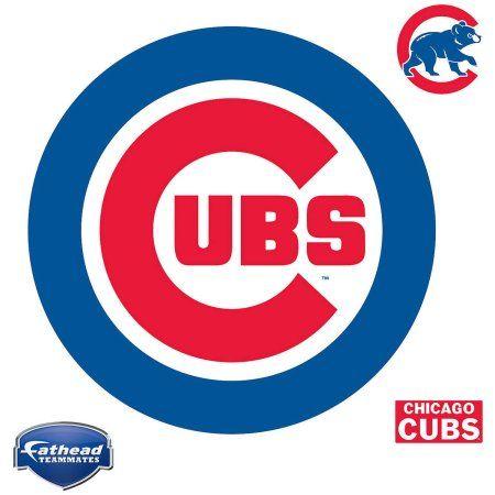 Fathead Chicago Cubs Teammate Logo, Multicolor