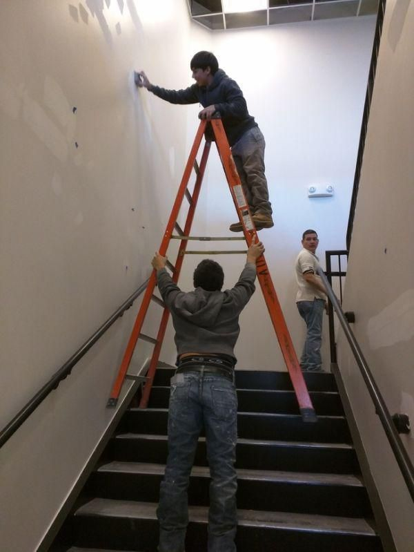 There Are Little Giant Ladders That Can Be Used On Stairs For A Reason