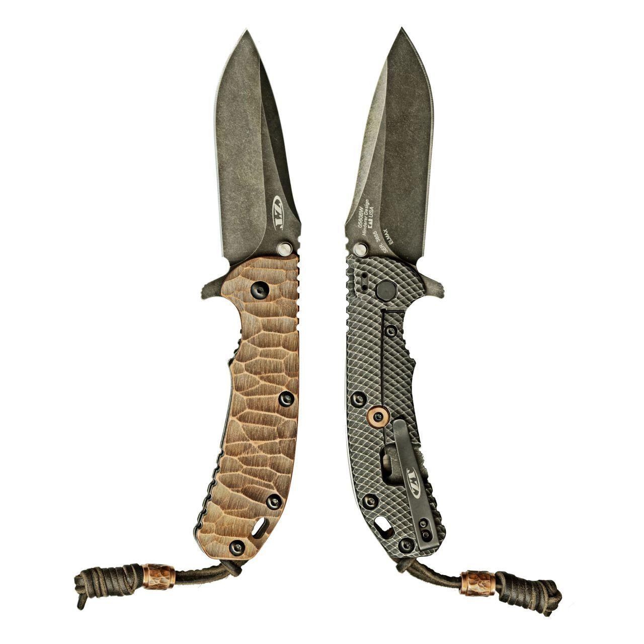 EDC Knife: Zero Tolerance 560 BW with custom stone pattern