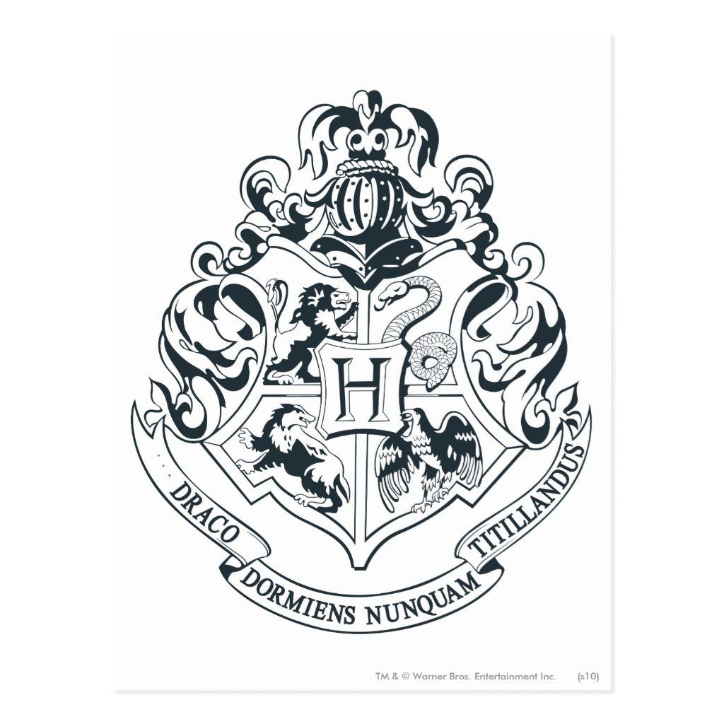 Harry Potter Postcards Hogwarts Crest 8 Postcards Hogwarts Wappen Harry Potter Selber Machen Gryffindor