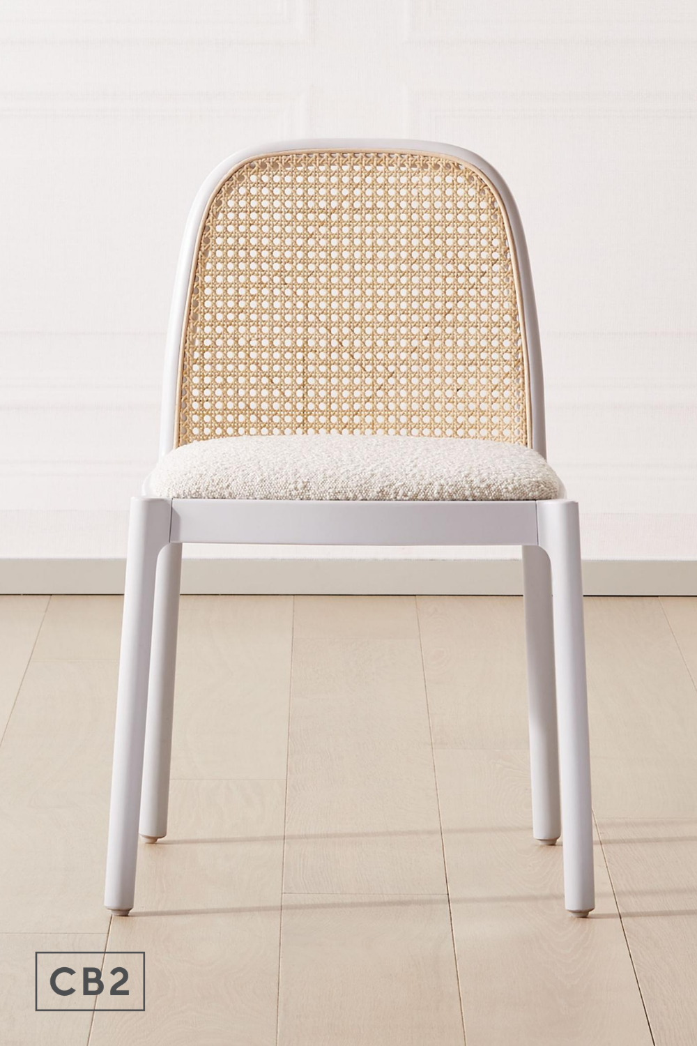 Nadia White Cane Chair Reviews Cb2 In 2020 Cane Chair Dining Room Contemporary Chair