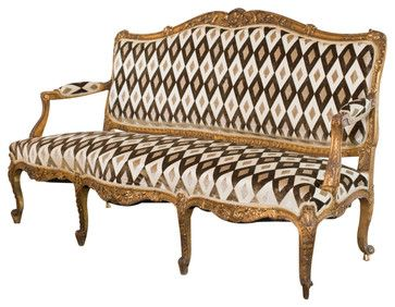 French Louis XVI Style Carved And Gilded Settee