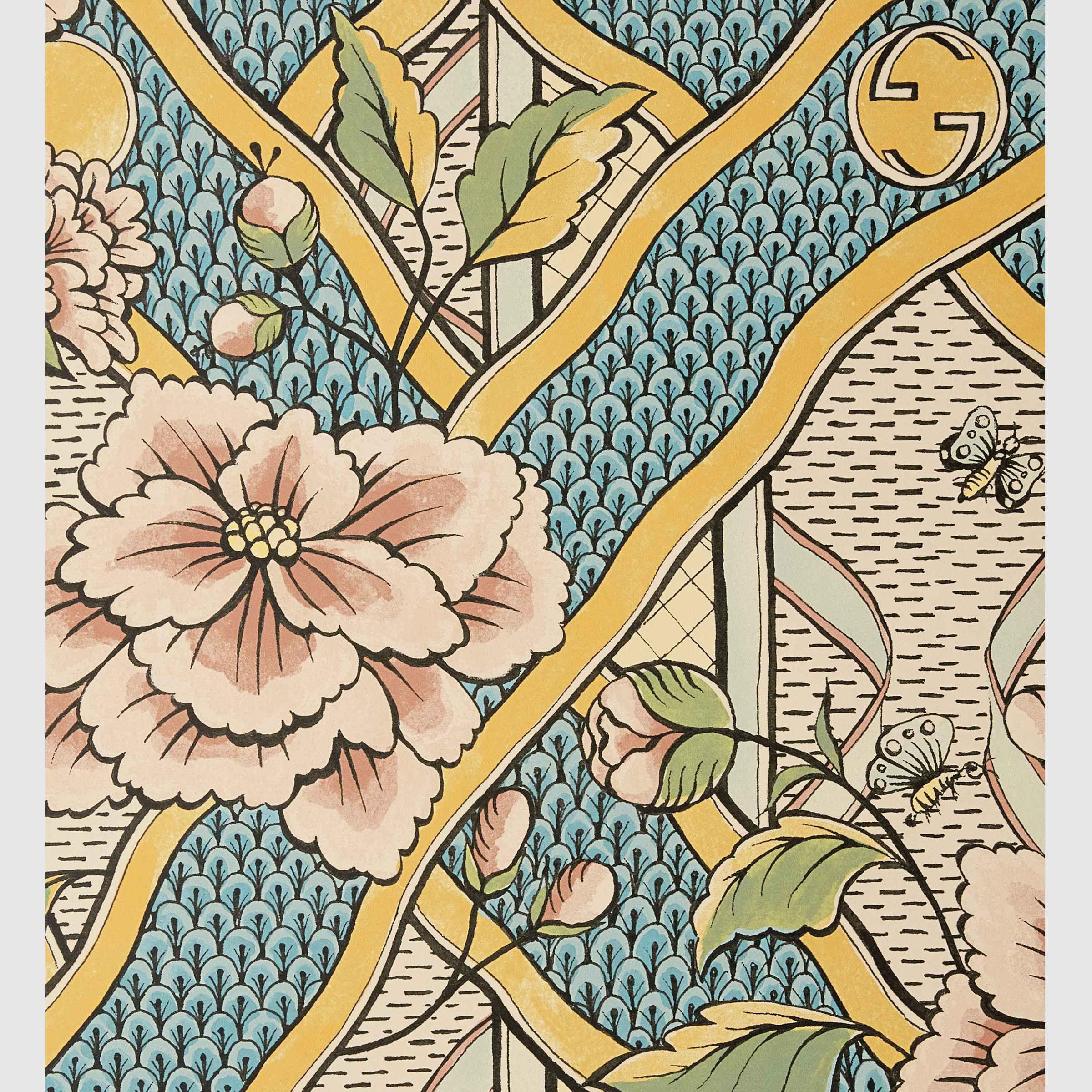 Gucci Floral print wallpaper in 2020 Floral print