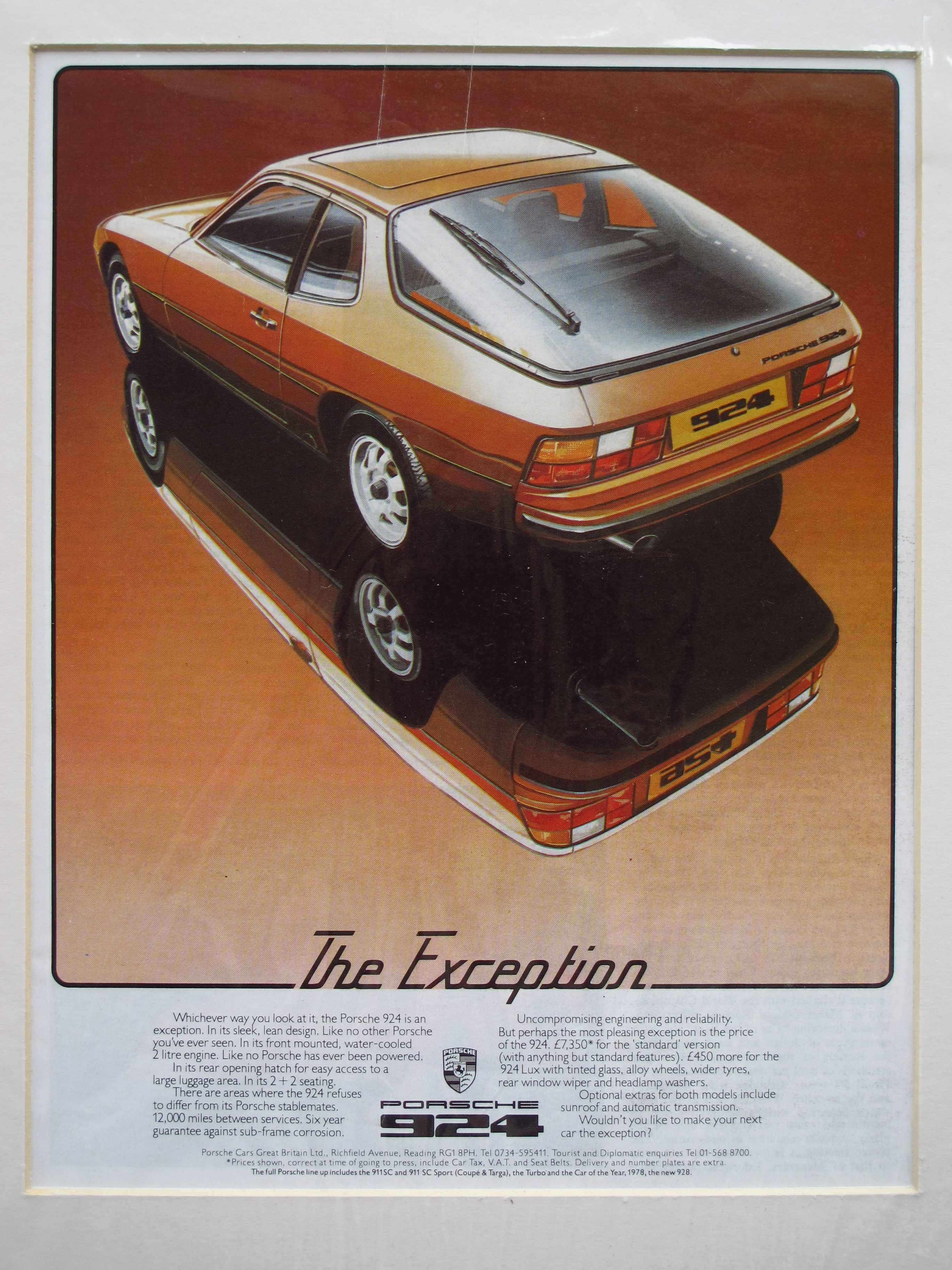 Porsche 924 advert 1978 loved this car till I totaled it:(   This is ...