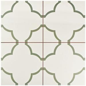 Merola Tile Nuvola Olive 17-5/8 in. x 17-5/8 in. Ceramic Floor and Wall Tile (11.1 sq. ft. / case) FPENUVO at The Home Depot - Mobile