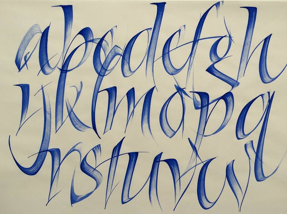 Qi in your calligraphy strokes alphabet by