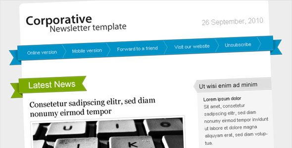 Free and Premium Email Newsletter Templates and Layouts - company newsletter template free