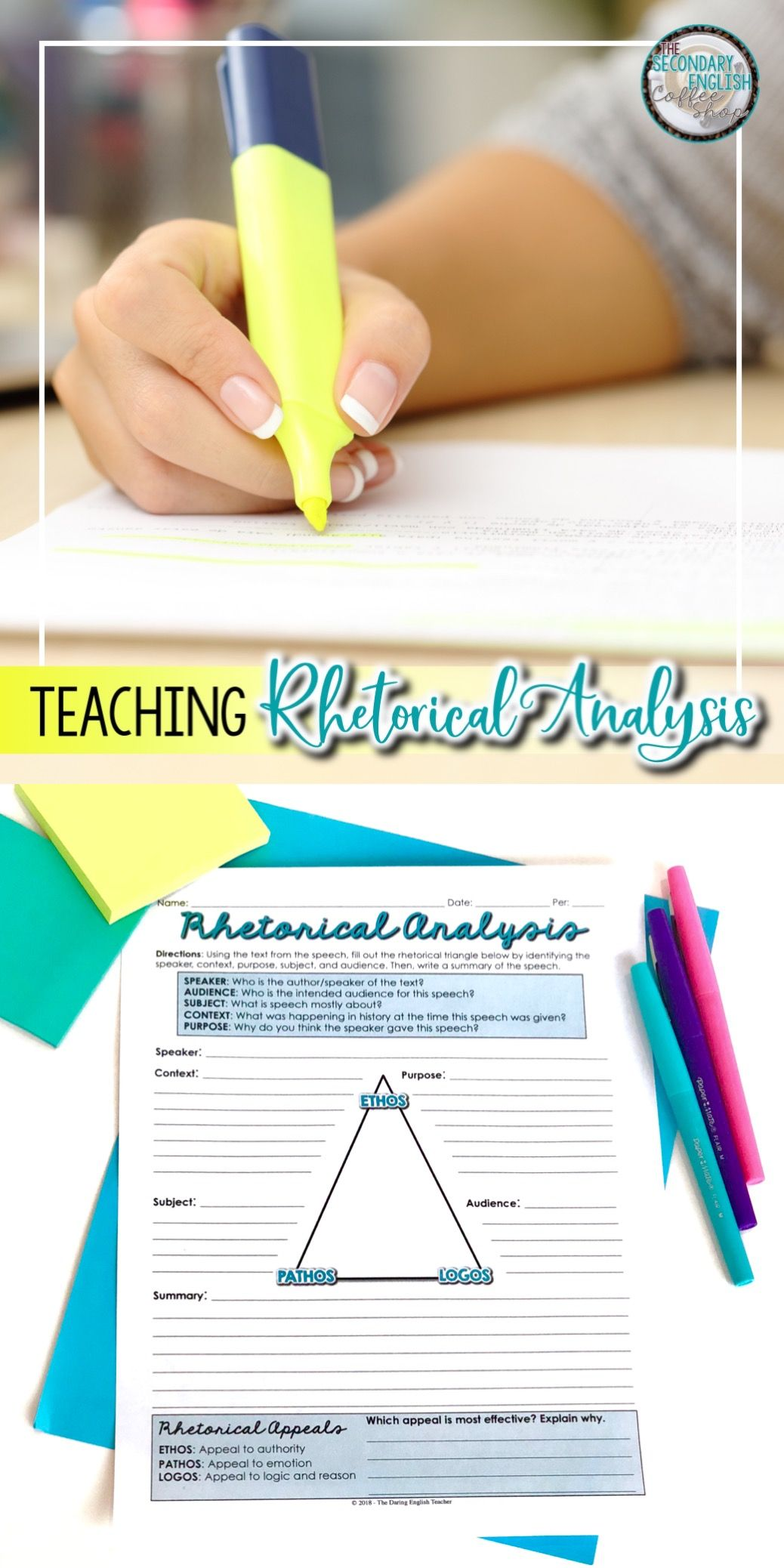 teaching rhetoric in high school english