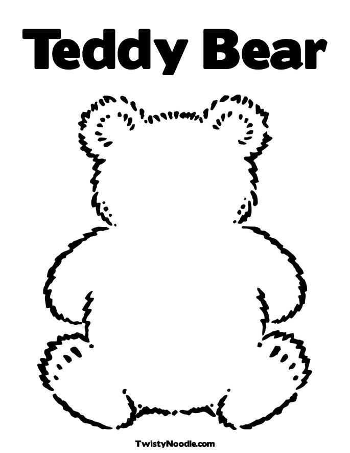 Teddy Bear Head Outline Cliparts Co Teddy Bear Coloring Pages